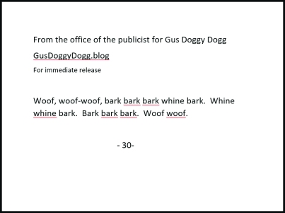 press release gus